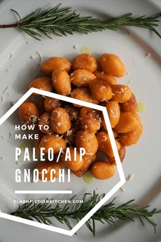 Sweet potato gnocchi with rosemary from Flash Fiction Kitchen (paleo, AIP, vegan) Sweet Potato Gnocchi, Paleo Sweet Potato, Boiling Sweet Potatoes, Mashed Sweet Potatoes, Aip Diet, Paleo Recipes, Food And Drink, Yummy Food, Tasty