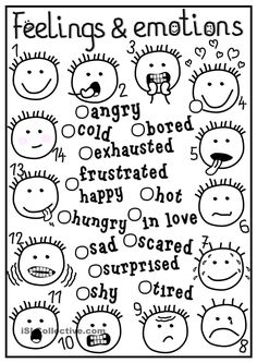 Feelings and emotions . Feelings and emotions - matching worksheet - Free ESL printable worksheets made by teachers Feelings Activities, Counseling Activities, Therapy Activities, Play Therapy, Social Emotional Learning, Social Skills, School Social Work, English Activities, English Classroom