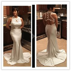 dress vestidos Picture - More Detailed Picture about Dearlove 2017 White  Open Back Fine Flowers Wedding Evening Long gown LC60639 sexy autumn winter  formal ... 28d43bc73e6c