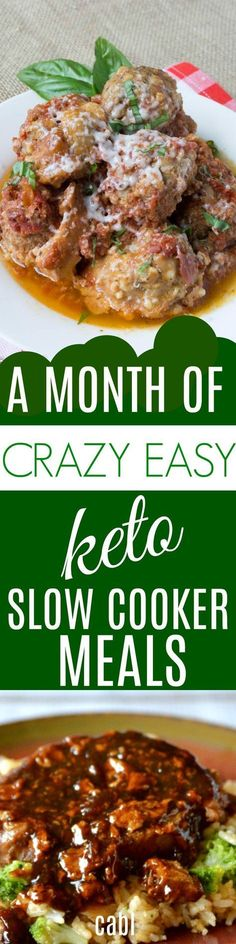 Keto - a month of Keto slow cooker recipes Ketogenic Recipes, Low Carb Recipes, Diet Recipes, Cooking Recipes, Healthy Recipes, Ketogenic Diet, Keto Foods, Cooking Stuff, Paleo Food