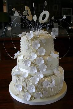 A Pearl 30th Wedding Anniversary Cake Parties