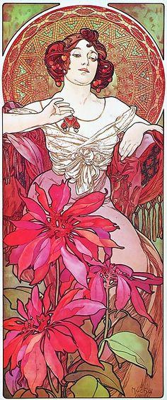 Alphonse Mucha Ruby (Le Rubis)