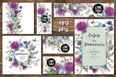 Meadow Herbal Collection by Depiano on @creativemarket