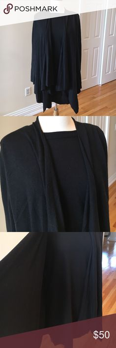 Kenar 2 piece attached set ⚫️Excellent condition. This is a scoop neck sweater with attached cardigan. 100% extrafine merino wool. Kenar Sweaters