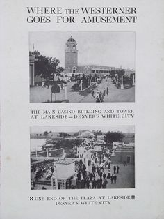 Original Vintage Where the Westerner Goes For Amusement by HodesH