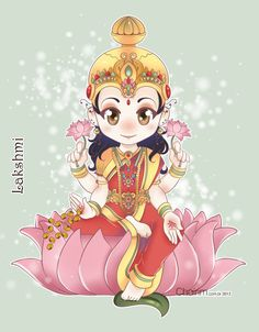Goddess Lakshmi Tattoo | Lakshmi Chibi by ChairimArrais