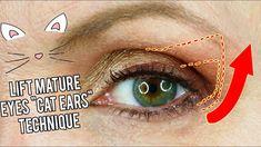 Lift Sagging, Drooping, Hooded Eyes: New Eyeshadow Technique for Older Women… - Make-Up Techniken Droopy Eye Makeup, Deep Set Eyes Makeup, Cat Eye Makeup, Eye Makeup Tips, Makeup Tricks, Asian Makeup, Droopy Eyes, Makeup Light, Korean Makeup