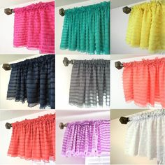 Ruffle Valances are absolutely gorgeous and the perfect addition to your farmhouse, Shabby, and Cottage Chic Home decor. They are also perfect to use in your nursery, children rooms, kitchens, and all the rooms in between! A few things that I absolutely love about these ruffle valances: They are wrinkle free....Right straight from the package even! Cant beat that now can ya?! {and if you are anything like me, if it needs ironed it sits in a pile for YEARs before I decide to pull t