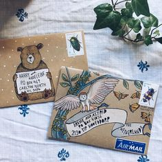 """3,668 Likes, 149 Comments - Naomi Bulger (@naomibulger) on Instagram: """"Remember these guys? It's time for me to design some more mail-art envelope templates for you to…"""""""