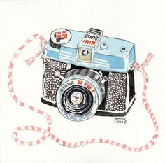 I love Lomography. I love waterpainting.  How else could this be much perfect?