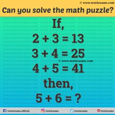 Mind Twisting Math Puzzles For Adults & Kids | Puzzles | Test 4 Exams