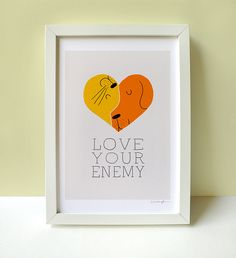 """Love Your Enemy"" Print by ILoveDoodle, via Flickr"