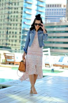 Pink Printed Dress For Summer | My Style Vita