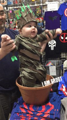 This Baby Dressed As Baby Groot Is The Cutest Thing In The Galaxy