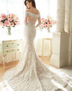 Vestido De Noiva Manga Longa Long Sleeve Lace Wedding Dresses Backless fd82c2c0a441