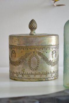 little silver trinket box