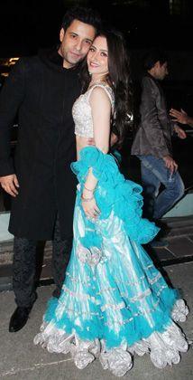TV actors Aamir Ali, Sanjeeda Sheikh's pre-wedding party