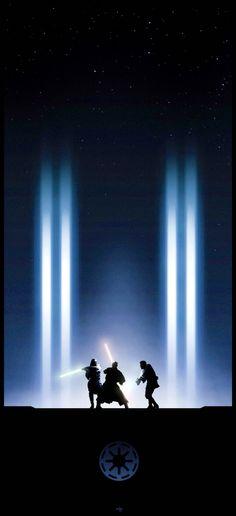 Star Wars - Qui Gon and Darth Maul combat iPhone 6 wallpaper