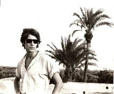Yves St Laurent during his first trip to Morocco in 1966.
