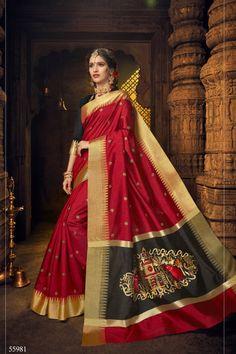 e2cdfa5af Wholesale Stylish Festival Wear Silk Saree Collection