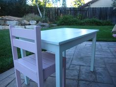 Kiddo table and chair(s) | Do It Yourself Home Projects from Ana White