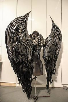 Creative Costumes * Unique Intuitions - Behemoth Gothic Steampunk Cosplay Wings by Toxic Vision Steampunk Cosplay, Gothic Steampunk, Moda Steampunk, Style Steampunk, Steampunk Fashion, Steampunk Wings, Steampunk Clothing, Gothic Fashion, Armor Clothing