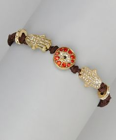 Another great find on #zulily! Black & Red Hamsa Bracelet #zulilyfinds