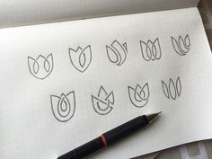 Lotus Logo Exploration by Yoga Perdana - Dribbble Wine Time, Logo Branding, Branding Design, Logo Fleur, Lotus Logo, Spa Logo, Logo Sketches, Drop Logo, Wine Logo