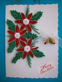 Quilling Christmas card, Chrismas card, Quilled Chrismas ...