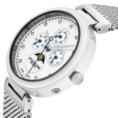 Stuhrling Original - Ceas Stuhrling Original Selene 672.01 - Argintiu Breitling, Black Friday, Watches, The Originals, Gifts, Accessories, Presents, Wristwatches, Clocks