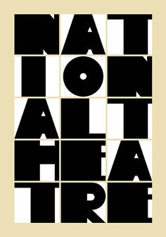 National Theatre London poster by Paula Scher - Pentagram Bold Typography, Typography Poster, Typography Design, Typo Design, Graph Design, Michael Bierut, Branding And Packaging, Paula Scher, London Poster
