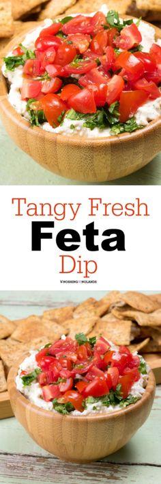 Tangy Fresh Feta Dip via @tnoland