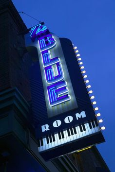 The Blue Room Jazz Club Neon Sign
