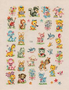 vintage animal decals
