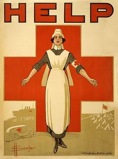 A Red Cross recruiting poster for nurses from World War I. Thank you Military Nurses.