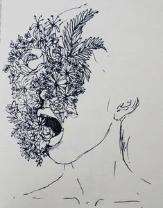 fucked-up-sketches:  a flower does not think of competing to the flower next to it. it just blooms pages from my sketchbook