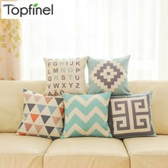 Cheap decor cushion, Buy Quality cushion directly from China cushion leather Suppliers: Top Finel 2016 Geometric Decorative throw Pillow case Linen Cotton Cushion Cover Creative decoration for Sofa Car covers White Cushion Covers, Diy Pillows, Linen Pillows, Cushions, Geometric Pillow, Throw Pillow Cases, Creative Decor, Decorative Pillow Covers, Ideas