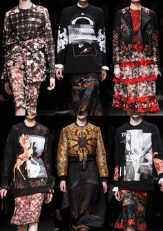 Paris Fashion Week   Autumn/Winter 2013/14   Givenchy A/W 2013/14 Creative Print Mixes – Cut-up Graphics – Romany and Gypsy Re-worked – Spice Coloured Paisleys – Patchwork Mismatched