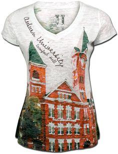 MyU Ladies Burnout Samford Hall T-shirt - white