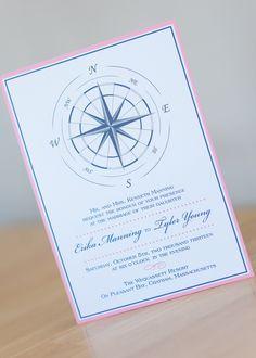 Large Compass Wedding Invitation by Dulcepress on Etsy https://www.etsy.com/listing/227614347/large-compass-wedding-invitation