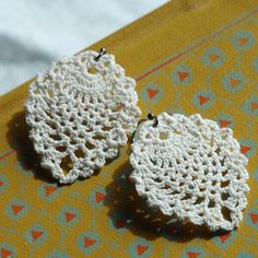 $30.00 lace crochet earrings