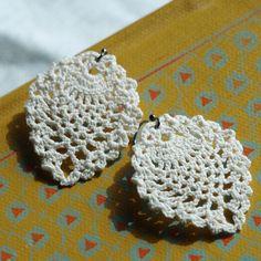 $30.00 lace crochet earrings