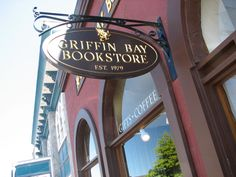 Griffin Bay Bookstore in Friday Harbor,WA. They have wonderful books and great ice coffee.