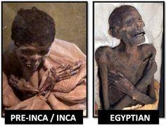 """AMBOS LOS EGIPCIOS Y INCAS / PRE-INCAS ... Cruzar los brazos de sus muertos momificados. Esto fue para mostrar el estado de """"equilibrio"""" que se entraba en la muerte, como se vivía una vida equilibrada. Los dos brazos denotan opuestos en equilibrio, un lado izquierdo y un lado derecho cruzado. 4. Máscaras funerarias ORO"""