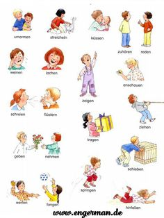 e Verben Source by Study German, Learn German, German Grammar, German Words, Germany For Kids, German Resources, Deutsch Language, English Collocations, German Language Learning