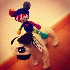 I think the mouse needs a friend of her kind, so she does not bother the pug anymore  #pug #crochetpug #crochetmouse #amigurumimouse #handmadewithlove #niggyarts #häkeltier #fantasydoll #gehäkelterhund #spielgefährte