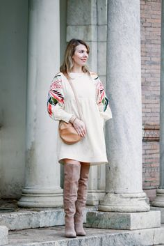What to wear with a spring dress in winter - Cheryl Shops