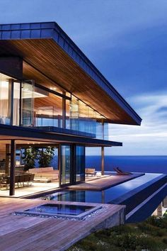 lovely home design guaranteed to make super comfortable 42 stunning modern dream house exterior design ideas 11 Home Design, Modern House Design, Modern House Exteriors, Design Ideas, Modern Glass House, Glass House Design, Modern Exterior, Architecture Design, Amazing Architecture