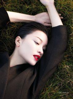 Calvin Klein shoot, Chinese model Du Juan shot by Wee Kim.