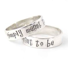Choose wedding bands inspired by Jack and Sally.